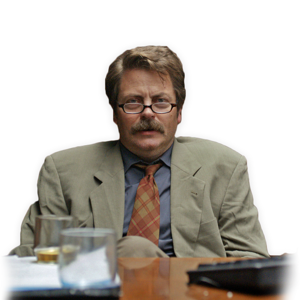 Nick Offerman in the new film, Believe Me